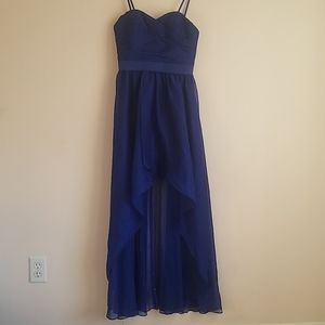 Cobalt Blue, High-Low Gown by Aqua Dresses